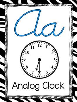 Math Alphabet--Zebra Print