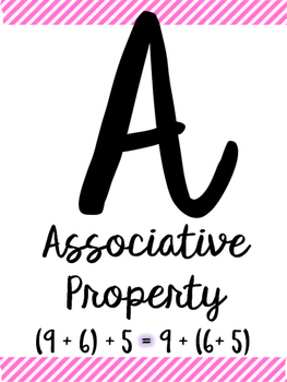 Math Alphabet for Upper Elementary and Middle School