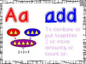Math Alphabet with Matching Numbers
