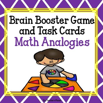 Free! Math Analogies Brain Booster Game Cards and Task Cards!