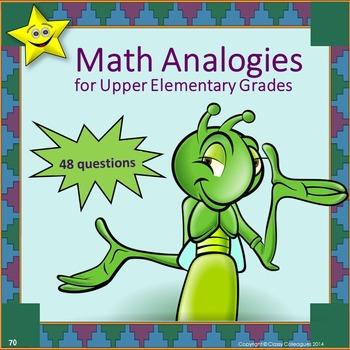 Math Analogies for Upper Elementary Grades