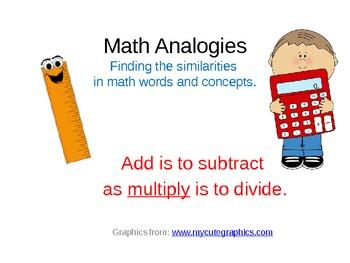 Math Analogies to Support Thinking Skills