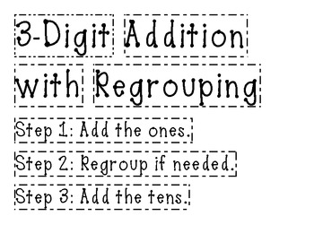 Math Anchor Chart - 3 Digit Addition with Regrouping