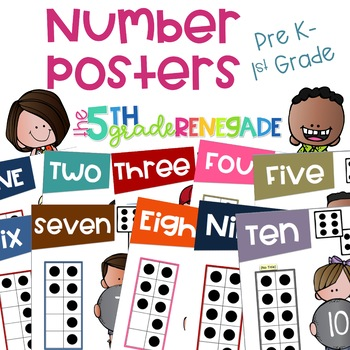 Math Anchor Charts #1-10 for Primary Grades