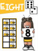 Math Anchor Charts #1-10 for Primary Grades Bee Theme