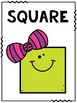 Math Anchor Charts 2D Shapes for Primary Grades