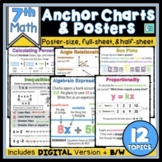 7th Grade Math Anchor Charts for Interactive Notebooks and