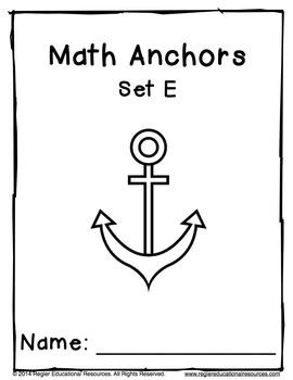 Math Anchors Set E: Addition to 20