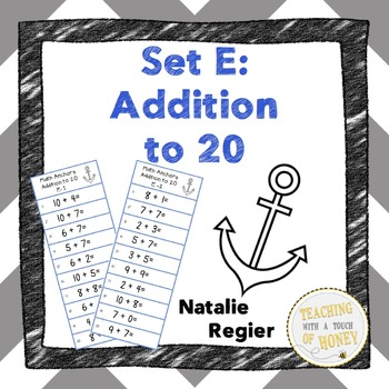 Math Anchors Set E: Addition to 20