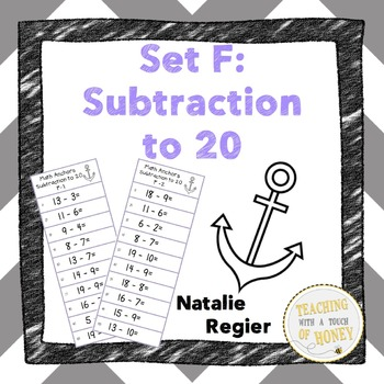 Math Anchors Set F: Subtraction to 20