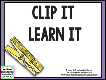 Clip It Learn It Math And Literacy Centers