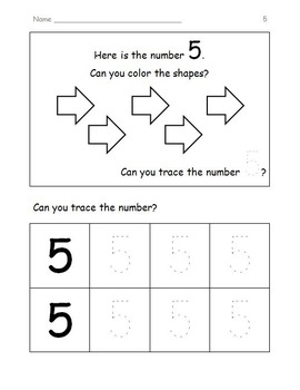 Back To School Math and Literacy Packet for Kindergarten JUST PRINT