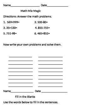 Math And Reading Fun Freebie!!