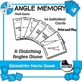 Math Angle Memory Game - match angles with their name