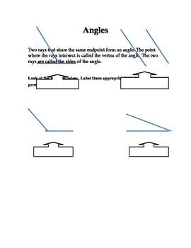 Math - Angle worksheet