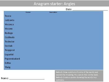 Math Angles Wordsearch Crossword Anagram Alphabet Keyword Starter Cover