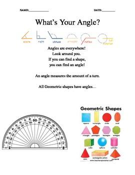 Math - Angles and Geometric Shapes