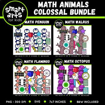 Math Animals Clipart Bundle