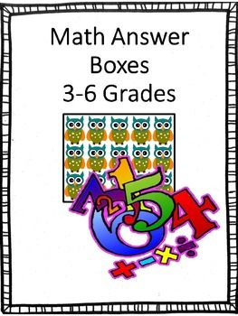 Math Answer Boxes