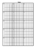 Math Answer Sheet with Graph Paper Grid