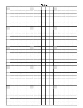 Math Answer Sheet with Graph Paper Grid *BUNDLE*