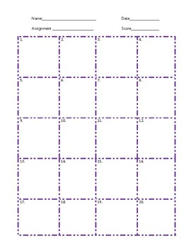 Math Answers Grid