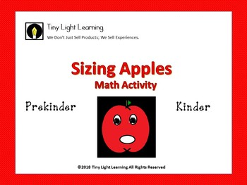 Math Apple Sizing Geometry and Measurement Activity
