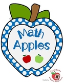 Math Apples Counting unit
