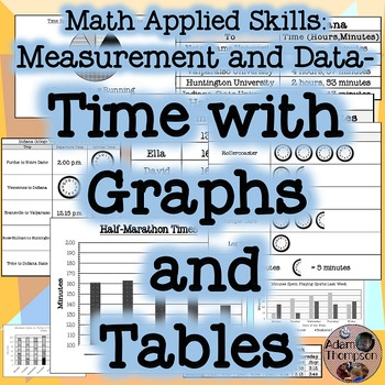 Time Problems with Graphs and Tables - Math Applied Skills