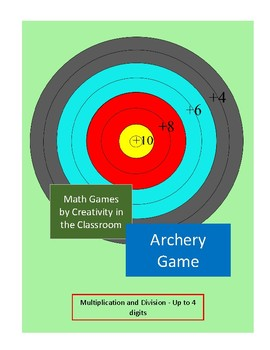 Math Archery Game - Multiplication and Division - Up to 4 Digits