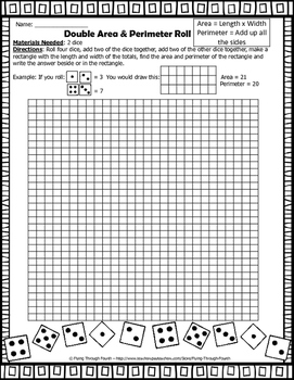 Math {Area & Perimeter Roll} Game (Measurement)