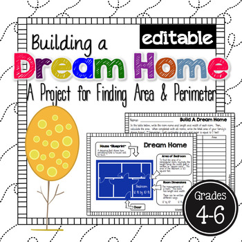 Area and Perimeter Dream Home *EDITABLE*