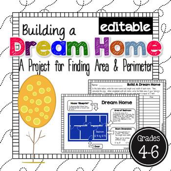 Area and Perimeter Dream Home *EDITABLE*