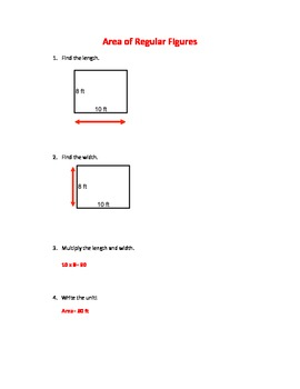 Math: Area of Regular Figures