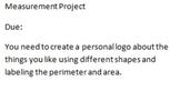 Math Area/Permeter Project