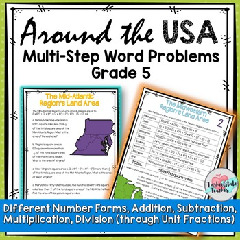Multistep Word Problems for 5th Grade Task Cards