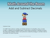 Math Around the Room- Add and Subtract Decimals