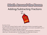Math Around the Room- Adding/Subtracting Fractions