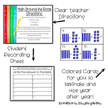 Math Around the Room- Base Ten Addition