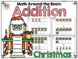 Math Around the Room: Christmas Addition
