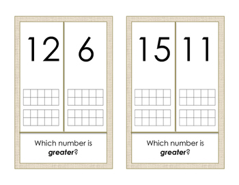 Math Around the Room: Comparing Numbers 2
