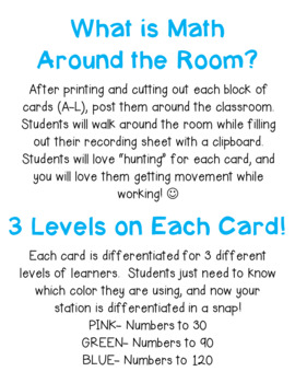 Math Around the Room: Counting on and Counting Back