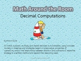 Math Around the Room- Decimal Computations