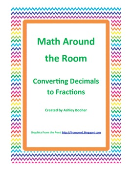 Math Around the Room - Decimals to Fractions