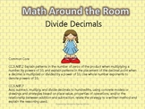 Math Around the Room- Divide Decimals