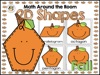 Math Around the Room: Fall 2D shapes