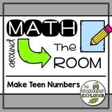 Math Around the Room - Make Teen Numbers