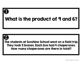 Math Around the Room: Multiplication