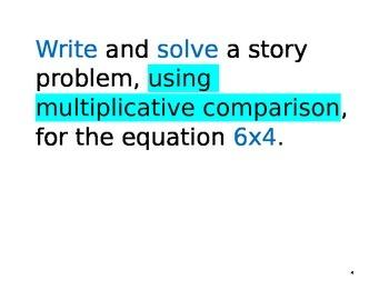 Math Around the Room: Multiplicative Comparison
