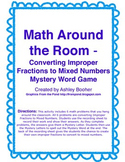 Math Around the Room Mystery Game-Converting Improper Frac